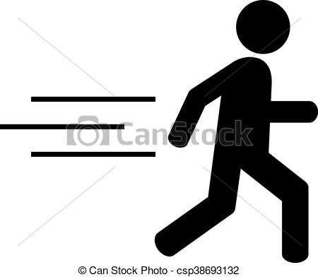 450x392 Running Man Icon On White Background.