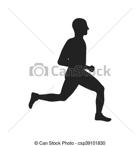 450x470 Sport Man Running Fitness Icon. Vector Graphic. Sport Man Running