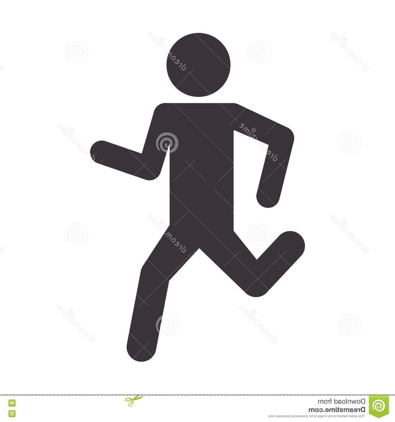 1300x1390 Best Man Silhouette Running Sport Icon Vector Illustration Eps Design