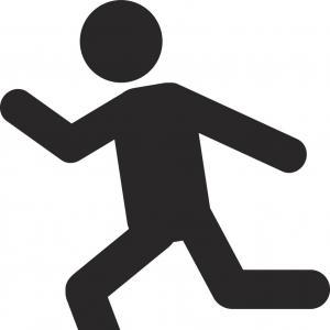 300x300 Person Running Silhouette Icon Vector Sohadacouri