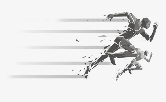 650x400 Running Abstract Characters, Vector Material, Run, Running Man Png