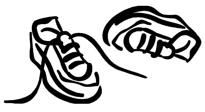 671x367 Running Shoe Print Running Duo Clip Art