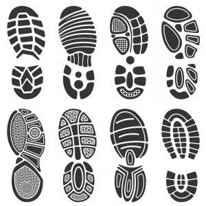 300x300 Shoe Print Clip Art Free Boot Print Vector Shoe Print Clip Art