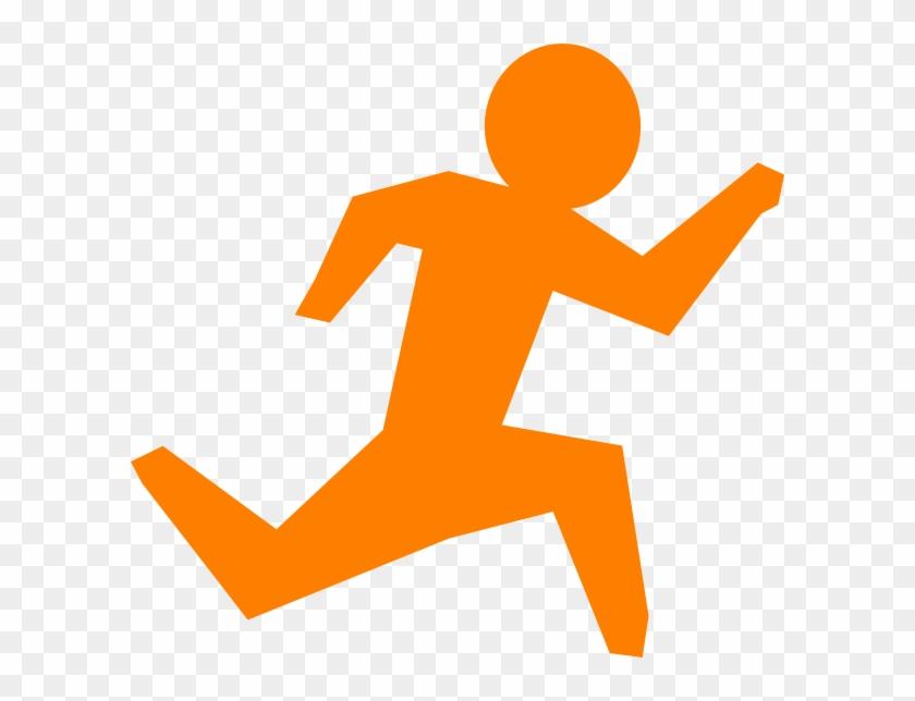 840x644 Person Running Running Man Orange Clip Art At Vector
