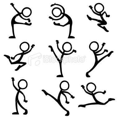 380x380 Stickfigure Dance Ballet. Variety Of Ballet Moves And Actions. In