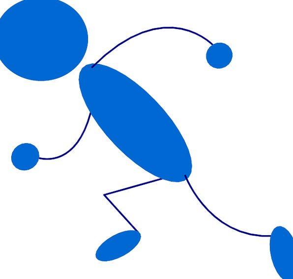 596x567 Stickman, Matchstick Man, Stick Figure, Running, Consecutively