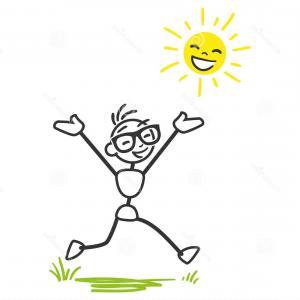 300x300 Stock Images Vector Stickman Happy Sunshine Stick Man Joyous Stick