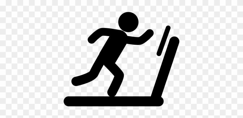 840x409 Man Running On Treadmill Machine Vector