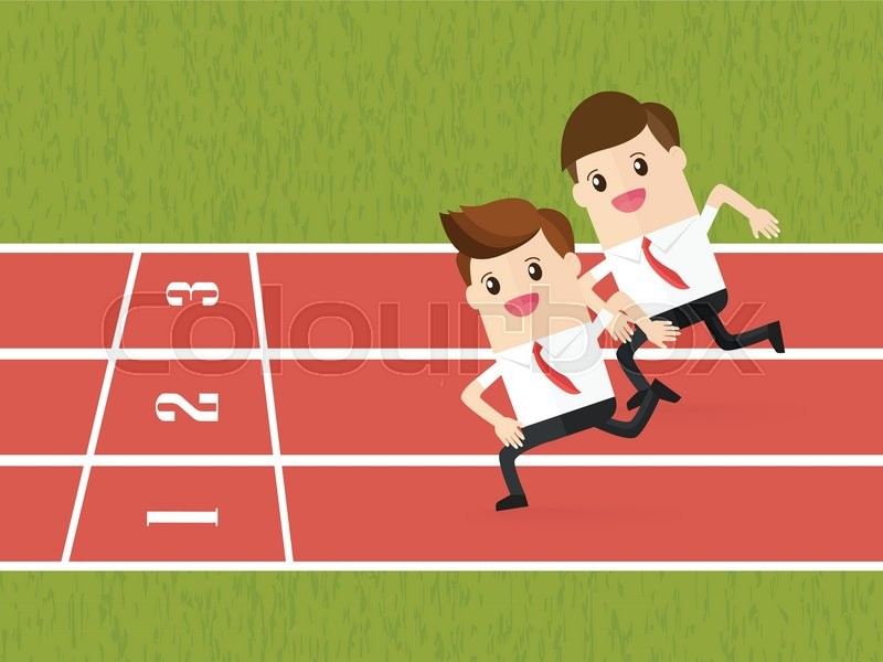 800x600 Competition Of Business People Running On Red Running Track