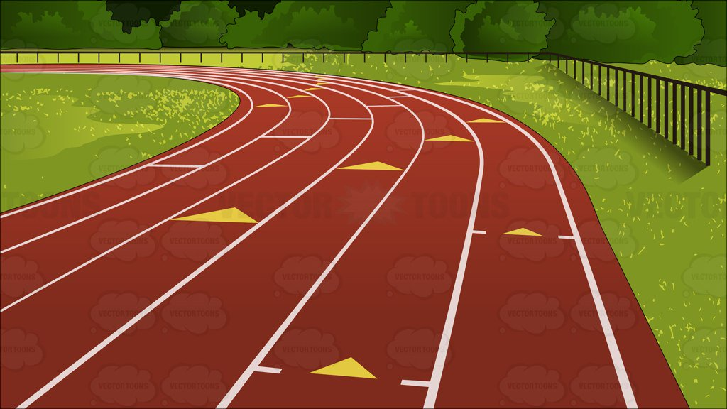 1024x576 Outdoor Running Track Background Clipart By Vector Toons