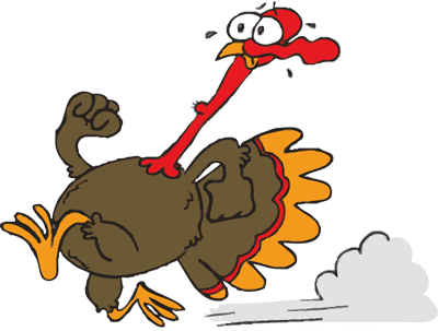 Running Turkey Vector