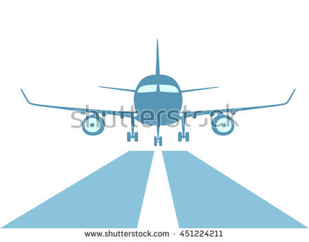 450x353 Clipart Airplane Landing Collection