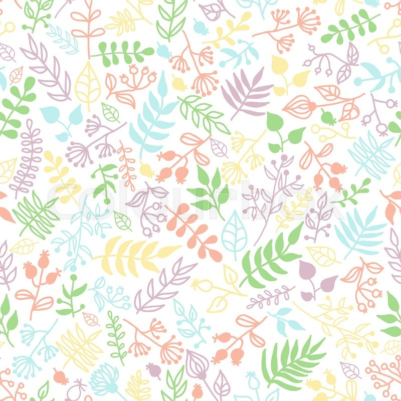 800x800 Vector Doodle Rustic Floral Pattern. Great For Wedding Invitations