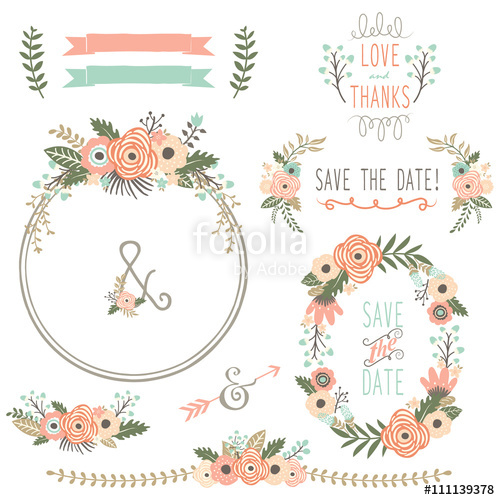 500x500 Rustic Wedding Flower Wreath Stock Image And Royalty Free Vector