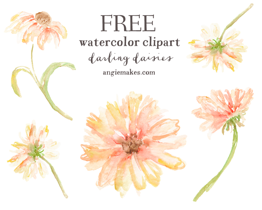 890x715 Rustic Clipart Watercolor Flower
