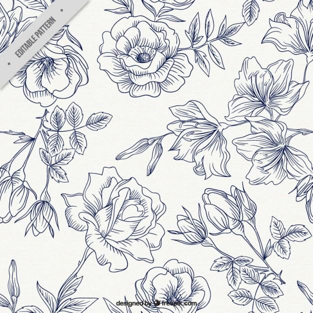 626x626 Spring Roses Pattern Vector Free Download