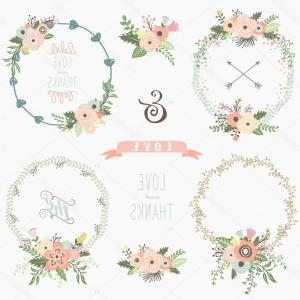 300x300 Stock Illustration Rustic Floral Wreath Elements Orangiausa