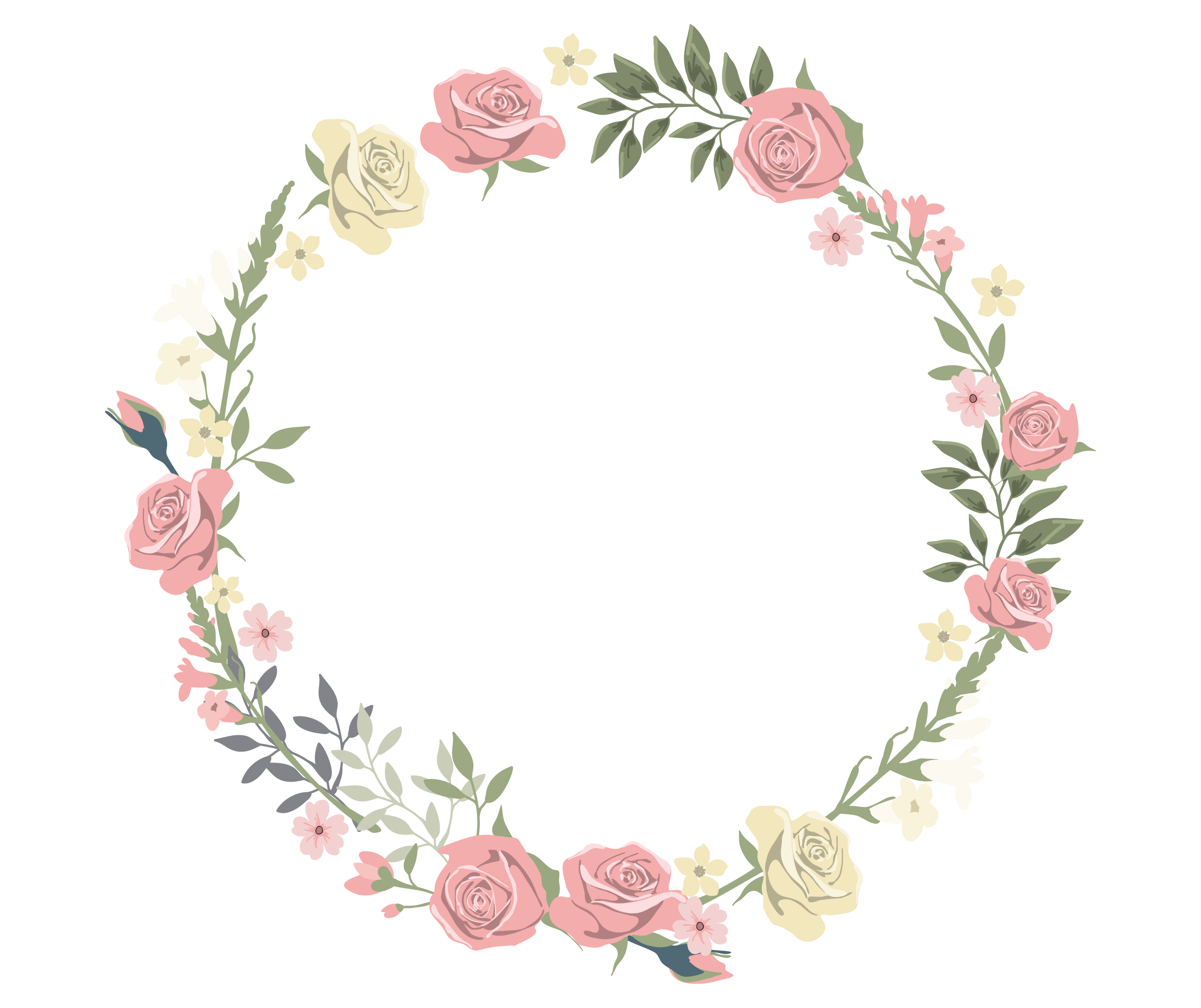 2953x2480 Free Rustic Flower Vector Transparent