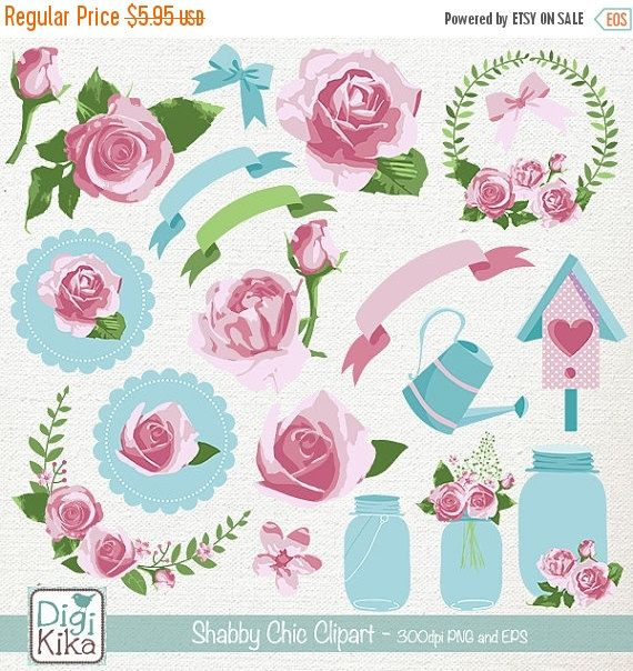 570x604 Shabby Chic Clipart, Rustic Wedding Clip Art, Floral Rustic Vector