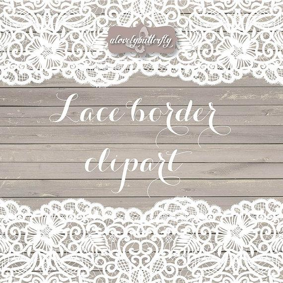 570x570 Vector Wedding Clipart Lace Border, Rustic Clipart, Shabby Chic