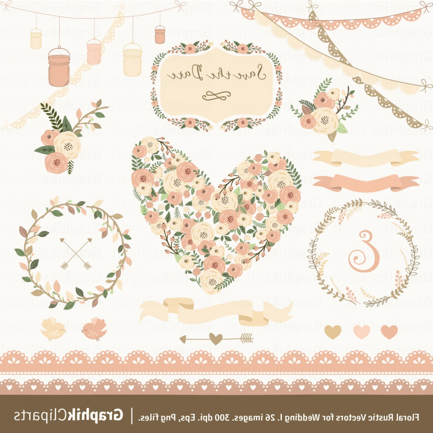1382x1382 Floral Rustic Vectors For Wedding Rongholland