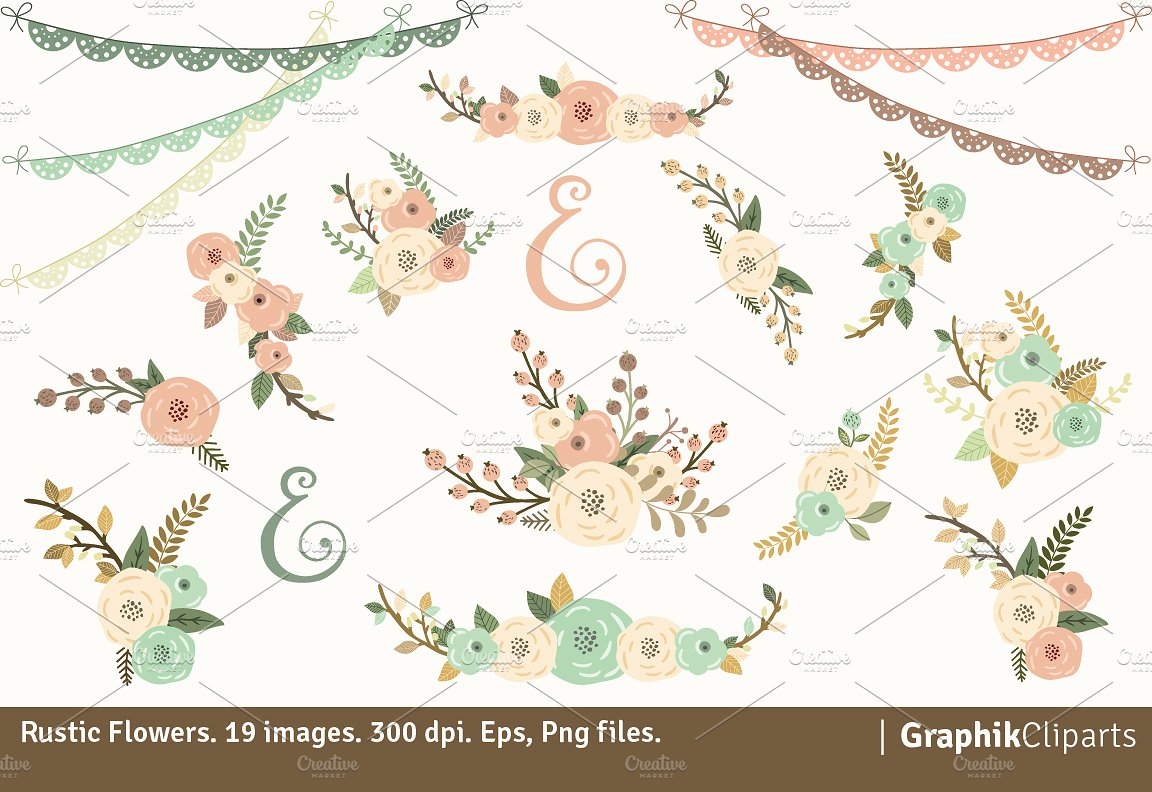 1152x792 Floral Clipart Rustic Flower