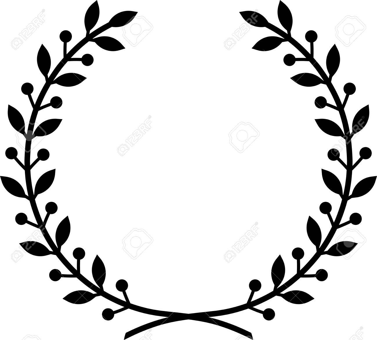 1300x1173 Collection Of Wreath Clipart Vector High Quality, Free
