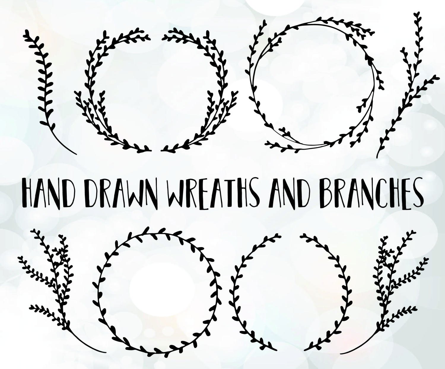 1500x1245 Branch Svg Files Branch Wreath Vector Branch Clipart File Etsy