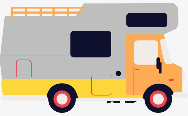 650x400 Simple Modern Rv Camping Vector, Camping Vector, Rv, Vehicle Png