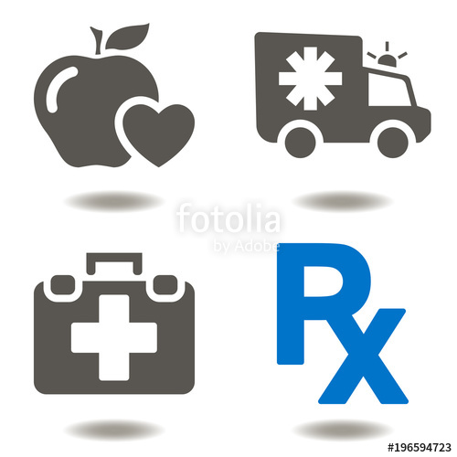 500x500 Healthcare Emergency First Aid Ambulance Icon Vector. Medicine