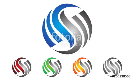 500x300 Global, Letter S Logo Design Stock Image And Royalty Free Vector