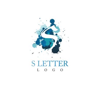 389x346 S Ink Colour Alphabet Letter Vector Logo Download Vector Logos