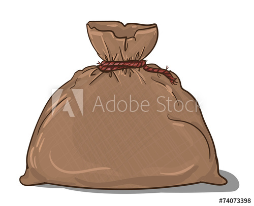 500x407 Canvas Sack Vector. Canvas Bag. Illustration Of A Canvas Sack