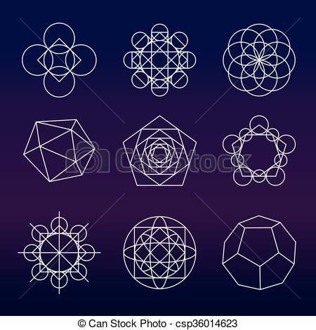 450x470 Sacred Geometry Vector Set. Sacred Geometry. Alchemy, Religion
