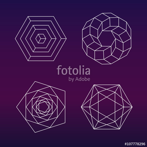 500x500 Sacred Geometry Vector Set Stock Image And Royalty Free Vector