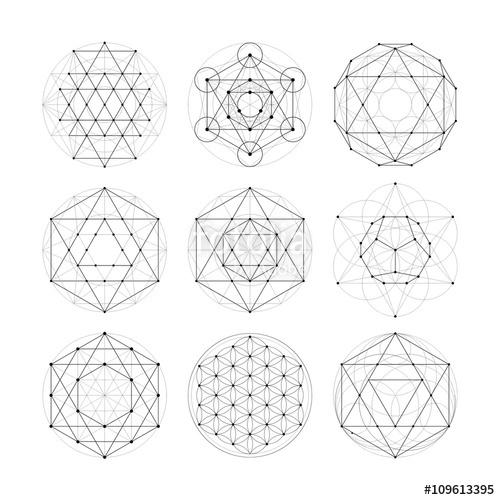 500x500 Sacred Geometry. Numerology Astrology Signs And Symbols Stock