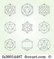 180x195 Free Art Print Of Sacred Geometry Vector Design Elements. Alchemy