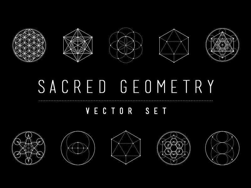 800x600 Sacred Geometry Illustrations Vector Set By Skybox Creative