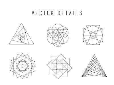 400x300 Sacred Geometry Vector Set Doodles Doodles
