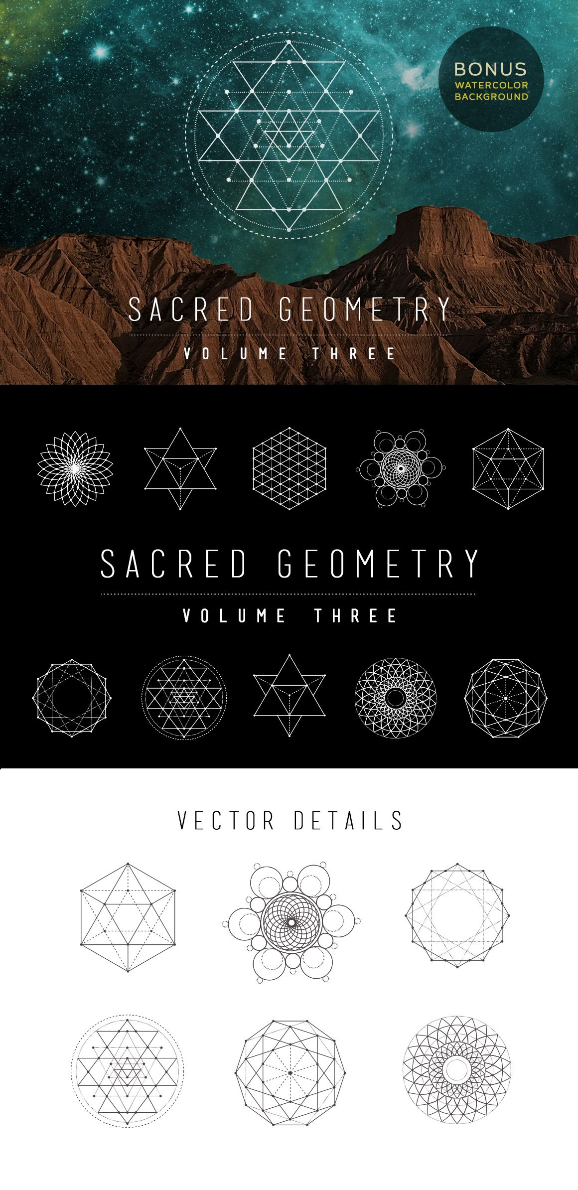 1160x2388 Sacred Geometry Vector Set Vol. 3 Tattoo And Drawing Tattoos