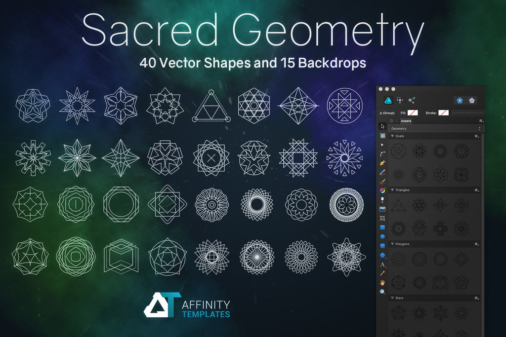 1024x683 Sacred Geometry Vector Set By Mkrukowski
