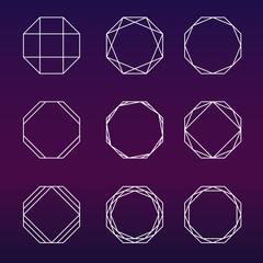 240x240 Sacred Geometry Vector Set