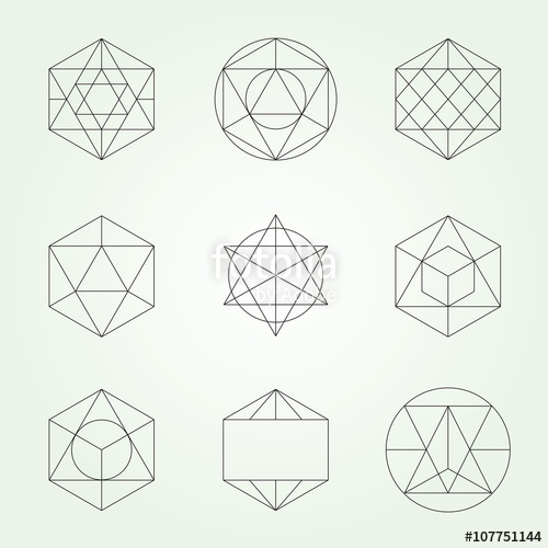 500x500 Sacred Geometry Vector Symbols And Elements Set Stock Image And