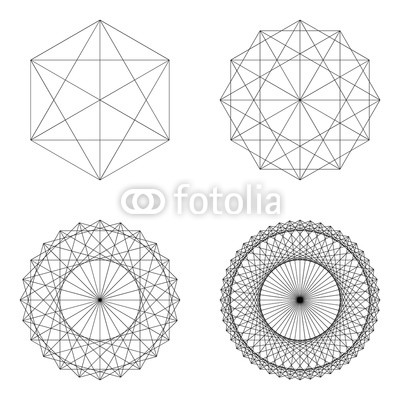 400x400 Set Of Geometrical Elements And Shapes. Sacred Geometry Vector