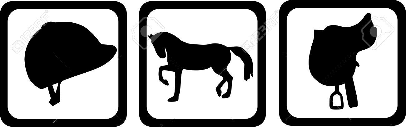 1300x409 Horse Riding Clipart Saddle