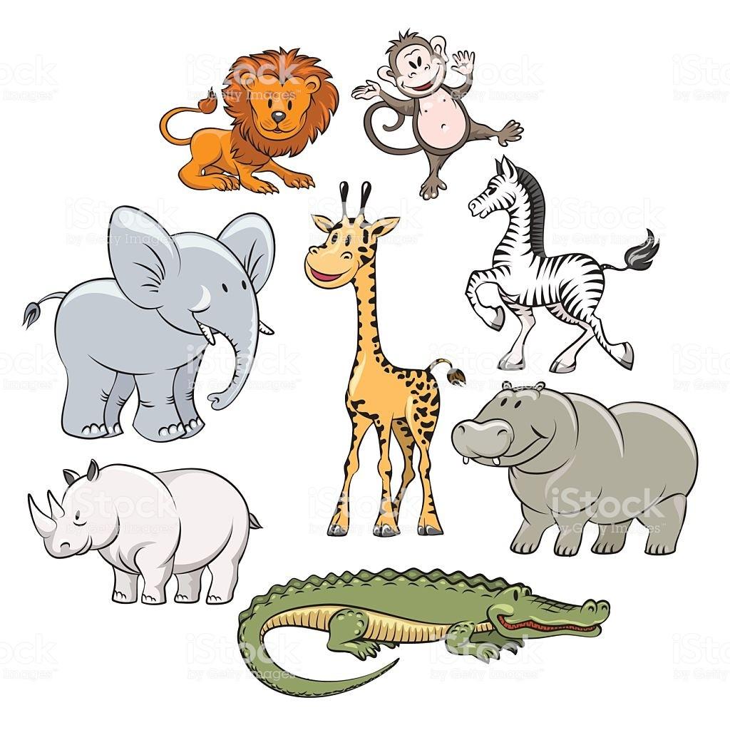 1024x1024 Cartoon Safari And Jungle Animals Vector Id537549166 At Vector