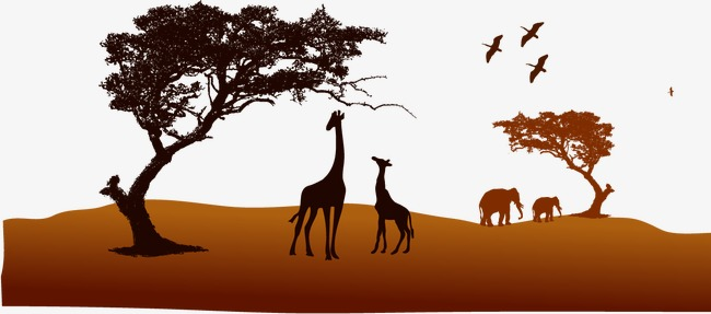 650x287 Vector Safari, Zoo, Giraffe, Elephant Png And Vector For Free Download