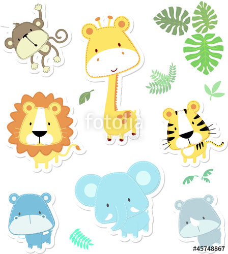 448x500 Cute Safari Animals Stock Image And Royalty Free Vector Files On