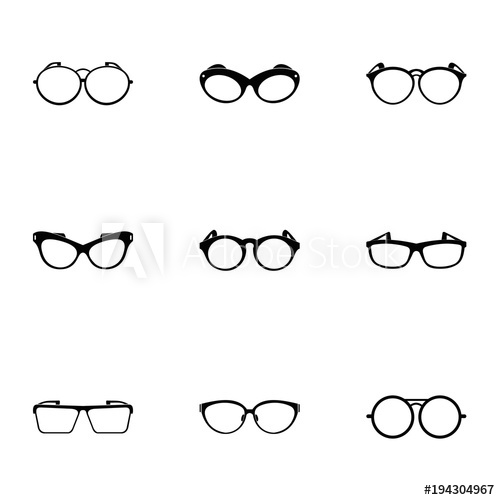 500x500 Safety Glasses Icons Set. Simple Set Of 9 Safety Glasses Vector