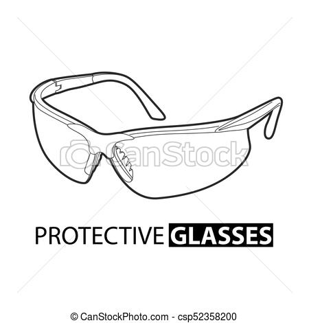 450x470 Safety Glasses Clip Art Safety Glasses For Repair On A White